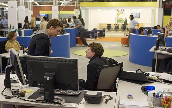 Facebook Mark Zuckerberg Sean Parker. Mark Zuckerberg (right) argues