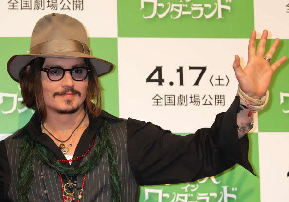 Actor Johnny Depp at the 'Alice In Wonderland' press conference in Tokyo,